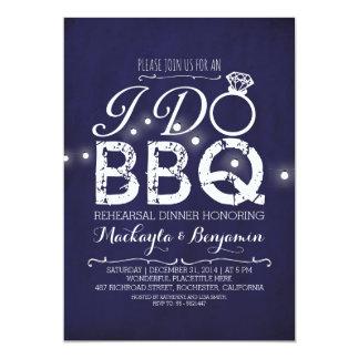 I do BBQ rehearsal dinner invitation NAVY