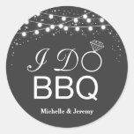 I Do BBQ Sticker / I Do BBQ envelope seals