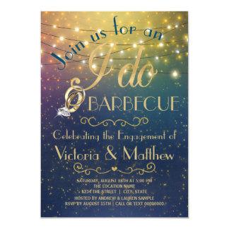 I Do BBQ String Light Starry Night BBQ Card