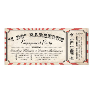 I DO BBQ Ticket Invitations | Engagement Party