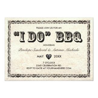 I DO BBQ Vintage Telegram Invitations