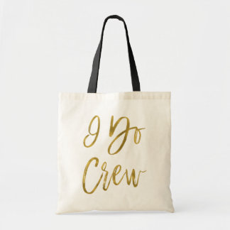 I Do Crew Faux Gold Foil Wedding Party Bag
