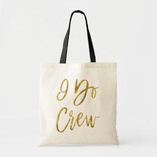 I Do Crew Faux Gold Foil Wedding Party Bag