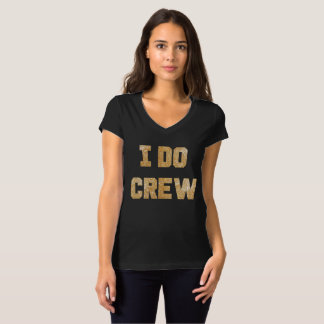 I Do Crew Gold Glitter Bridal Party Tee