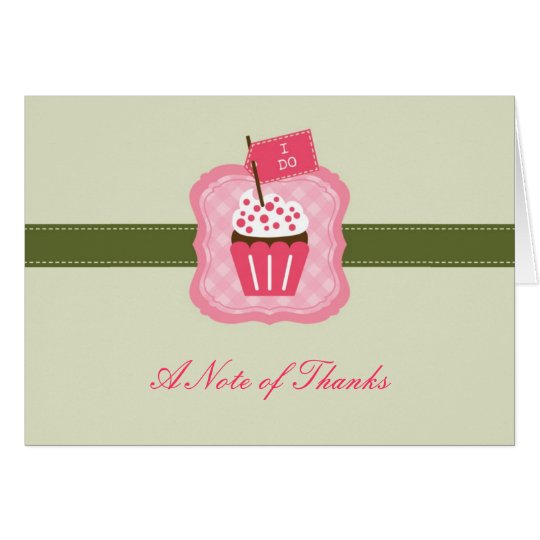 """I Do"" Cupcake Thank You Card"
