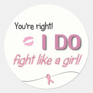 I Do Fight Like a Girl Stickers