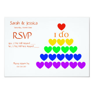 I Do Hearts 9 Cm X 13 Cm Invitation Card