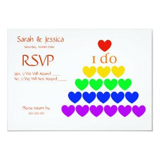 """I Do Hearts 3.5"""" X 5"""" Invitation Card"""