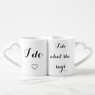I do I do what she says couples' mug