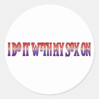 I Do it with my On Round Sticker