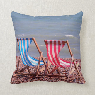 I do like to be beside the seaside throw pillow