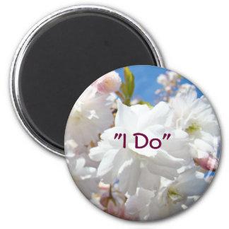 I Do magnets Bride Bridal Wedding Flowers Blossoms