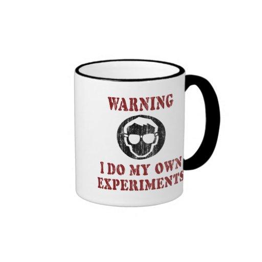 I Do My Own Experiments Retro Grunge Ringer Mug