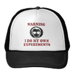 I Do My Own Experiments Retro Grunge Trucker Hat
