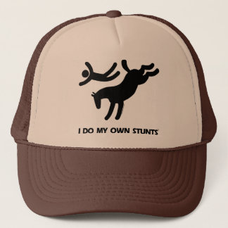 I Do My Own Stunts™  Horse: humorous picture of a Trucker Hat