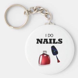 I Do Nails(Nail Technician) Basic Round Button Key Ring