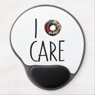 i do not care don't donut funny text message dough gel mouse mat
