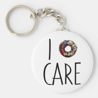 i do not care don't donut funny text message dough key ring