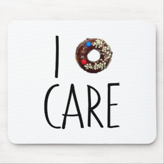 i do not care don't donut funny text message dough mouse mat