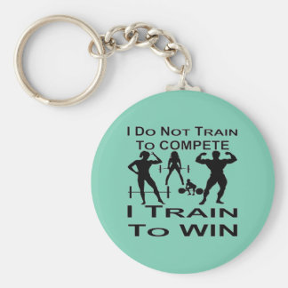 I Do Not Train To Compete I Train To Win Bodybuild Basic Round Button Key Ring