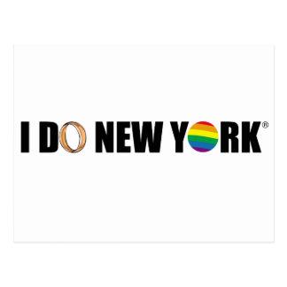 I DO NY ring Postcard