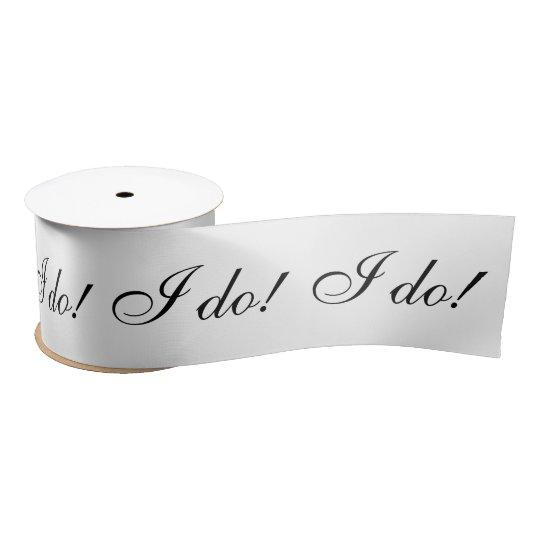 I do! satin ribbon