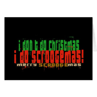 I Do Scroogemas, Red and Green Greeting Cards