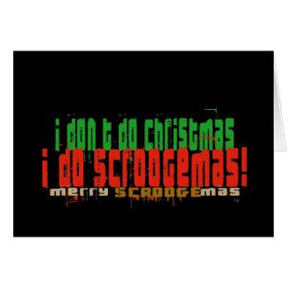 I Do Scroogemas, Red and Green Card