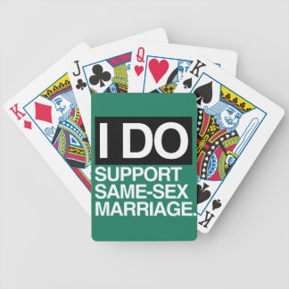 I DO SUPPORT GAY MARRIAGE - png Bicycle Card Deck
