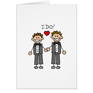 I Do Two grooms Card