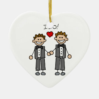 I Do Two grooms Christmas Ornament