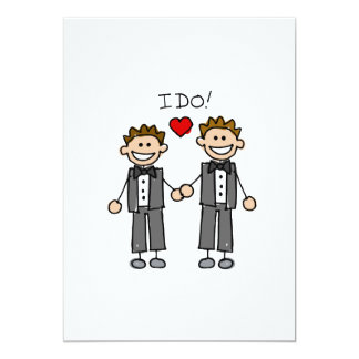 I Do Two grooms Personalized Announcements