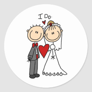 I Do Wedding Ceremony Sticker