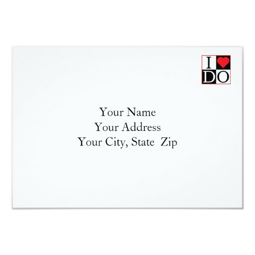 I Do Wedding RSVP Card 9 Cm X 13 Cm Invitation Card