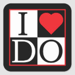 I Do Wedding Square Sticker