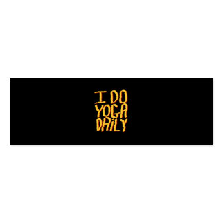 I Do Yoga Daily. Yellow and Black. Pack Of Skinny Business Cards