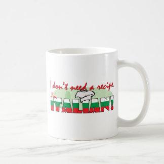 I don't need a recipe, basic white mug