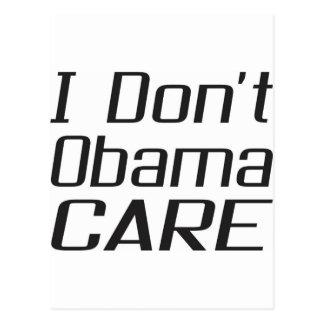 I don t obamacare design post card