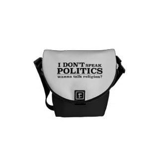 I Don't Speak Politics Wanna Talk Religion Commuter Bag