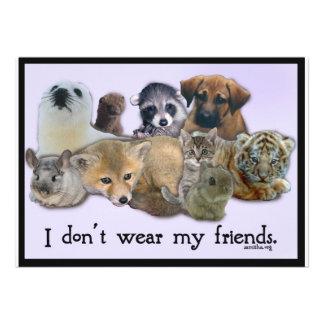 I Don t Wear my Friends Custom Invitation
