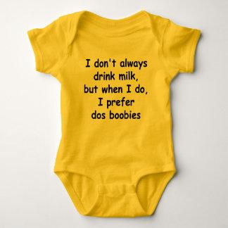 I Don't Always Drink Milk Baby Bodysuit