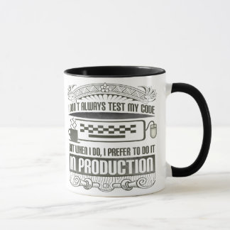 I Don't Always Test my Code Mug