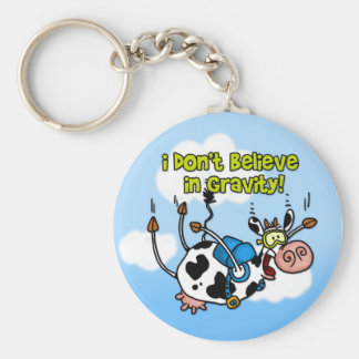 I don't believe in gravity keychain