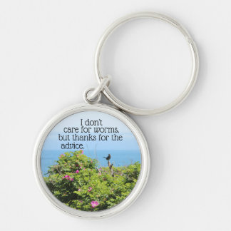 I don't care for worms key ring