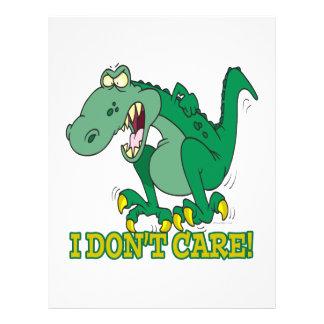 i dont care t-rex temper tantrum personalized flyer