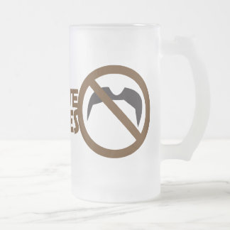 i dont date mustaches frosted glass beer mug