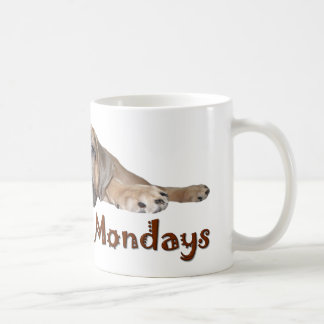 I Don't Do Mondays Bullmastiff Puppy Mug