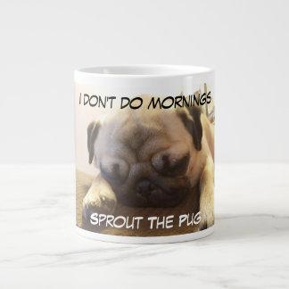 I Don't Do Mornings Large Coffee Mug