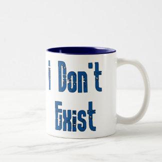 I Don't Exist Two-Tone Coffee Mug