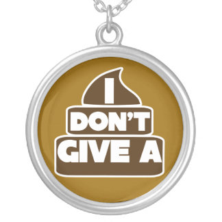 I don't give a POO Round Pendant Necklace